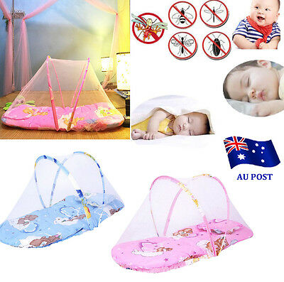 Infant Baby Nursery Mosquito Net Tent Mattress Cradle Bed Canopy Cushion pad BO