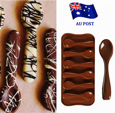 Silicone Baking Mould Spoon Design Chocolate Cake Biscuit Candy Mold Decor BO
