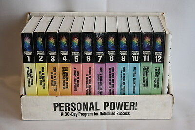 """Anthony Robbins """"Personal Power!"""" 30 Day Program For Unlimited Success Cassettes"""
