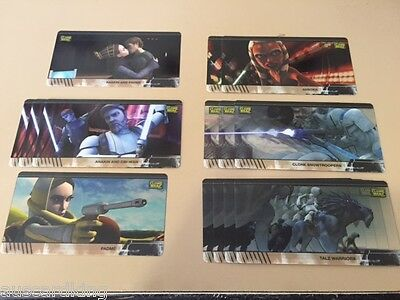 Star Wars - Clone Wars - Animation Cels - Chase Card BULK LOT of 14 - TOPPS - NM