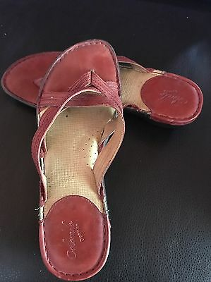Colorado Red Leather Ladies Size 8 Sandals