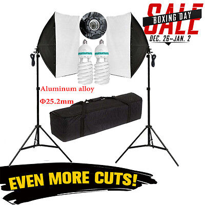 2016 1250W Photo Studio Continuous Lighting Softbox Soft Softbox Light Stand Kit