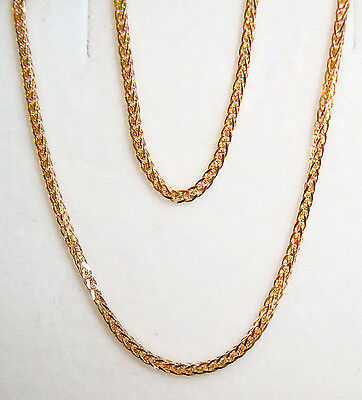 """14k yellow gold square wheat chain(2.5gr/24""""inch)"""