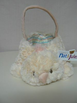Demdaco Nat & Jules CHICK BASKET Plush NEW soft Easter Basket KIDS Love to Play