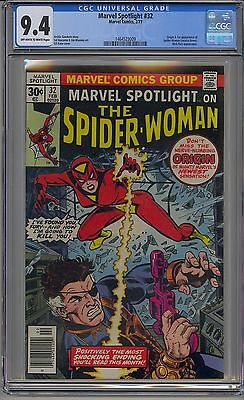 Marvel Spotlight #32 Cgc 9.4 Off-White To White Pages 1St Spider-Woman