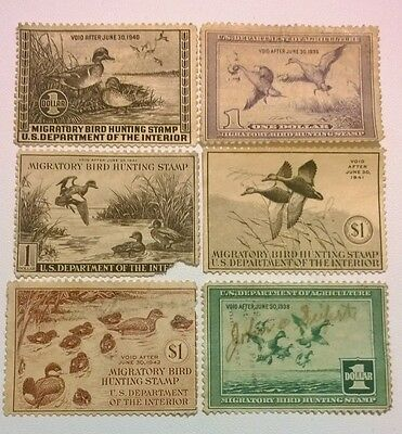 Duck Stamp Collection 1937-1942 U.S.