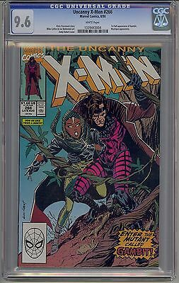 Uncanny X-Men #266 Cgc 9.6 White Pages 1St Gambit