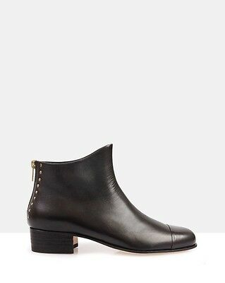 Beau Coops Beau5 Black Leather Ankle Boots