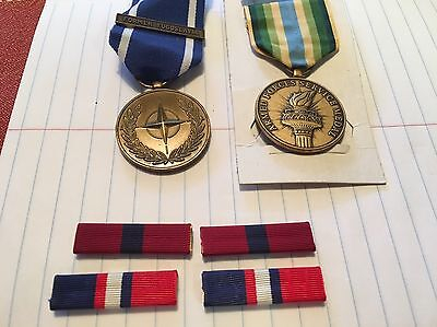 2 Medals 4 Ribbons USMC In Service Of Peace And Freedom In Pursuit Of Democracy