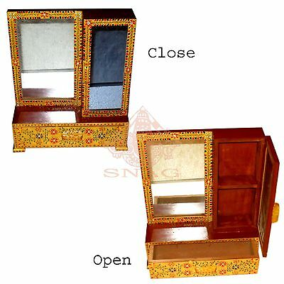 Beautiful Handy Compact Vanity Makeup Set With 1 Mirror , Cabin And Drawer