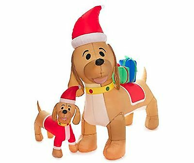 Inflatable Dachshunds Mother and Puppy, 2-Piece Set