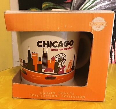 Dunkin Donuts Limited Edition Destination City Chicago Mug Excellent Condition