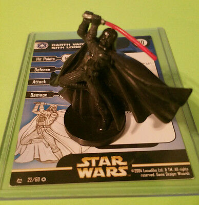 Star Wars Miniatures Rebel Storm DARTH VADER SITH LORD 22/60 VERY RARE!!