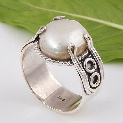 925 SOLID STERLING SILVER EXCLUSIVE PEARL RING 5.0g DJR5975