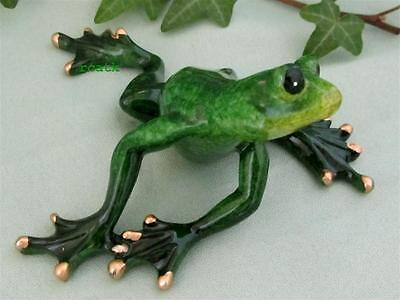 FROG GREEN TROPIC CRITTER Golden Pond Realistic Sculpture