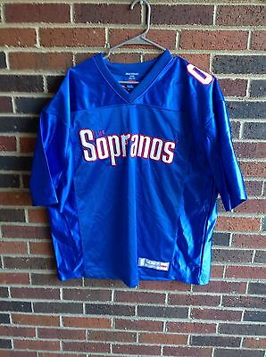 The Sopranos HBO Exclusive Merchandise Blue 02 Football Jersey Adult  Large!