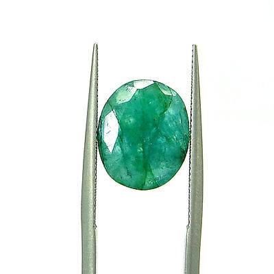 3.50 Ct Certified Natural Green Emerald / Panna Oval Loose Gemstone - 108982