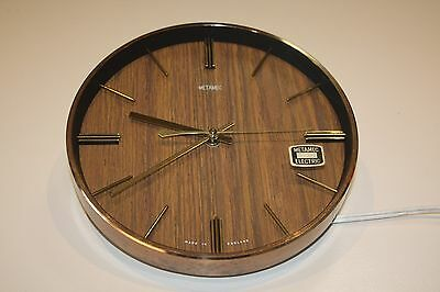 Vintage Metamec Retro Electric Wall Clock / Working Collectable