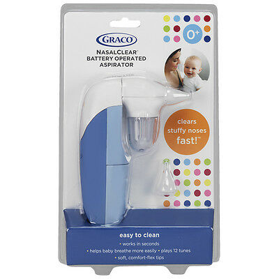 Graco NasalClear® Battery Operated Nasal Aspirator for Baby & infant mucus