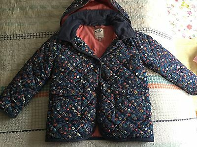 M&S Marks & Spencer Floral Puff Jacket Girls - Age 6-7