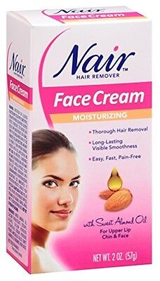 Nair Hair Removal Cream for Face with Special Moisturizers, 2-Ounce Bottles (Pac