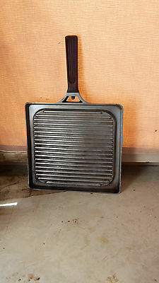 Vintage 50s-60s stove griddle iron fry pan camping