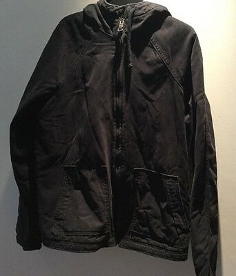 Holister Men's Coat, Navy With Khaki Lining Size M , New RRP £140
