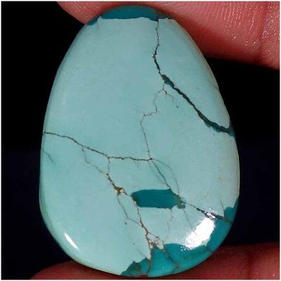 44.55Cts. 100% NATURAL UNTREATED TIBET TURQUOISE FANCY CABOCHON LOOSE GEMSTONES