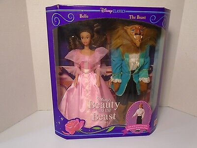 Disney Beauty and the beast,Belle & The Beast Doll by Mattel  1992