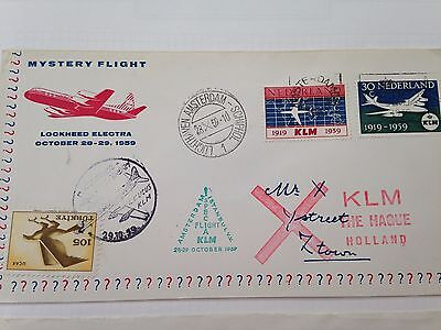 KLM 3 first flight covers to Lagos, Monrovia & New York + mystery cover Turkey!!