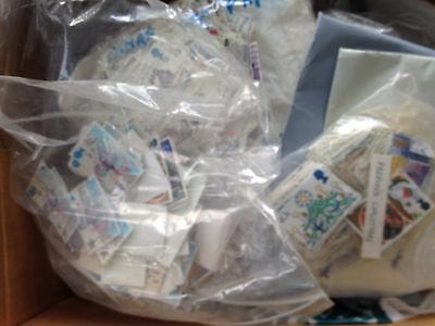 GB UK 3.4 kilo box with christmas stamps large off paper mostly used big lot