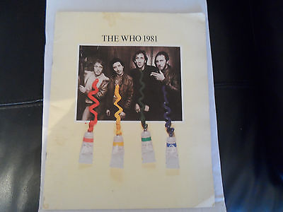 The Who 1981 Concert Programme