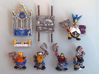 Dwarfs - High King Thorgrim Grudgebearer on Trone of Power Metal Classic DW90