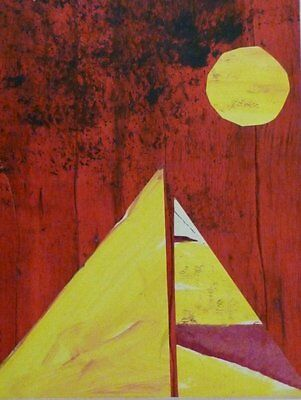 SUN AND SAIL COLLAGE by RUPERT MALLIN - 2015 SIGNED