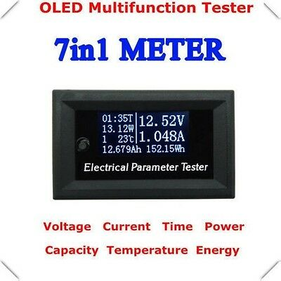 Oled 33v 10A DC Combo Meter Voltage Current Power Watt Capacity Panel Monitor