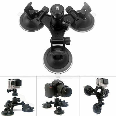 Tri-Cup DSLR Camera Suction Mount w/Ball Head for Nikon Canon Sony DSLR /Camcord