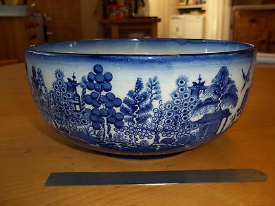 ANTIQUE MINTONS WILLOW PATTERN Blue & White bowl