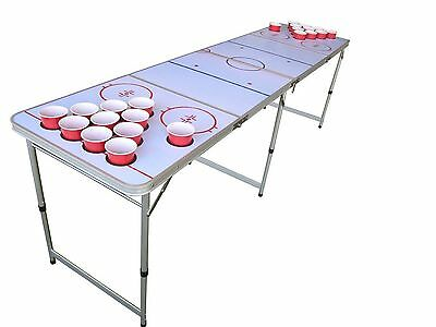 Hockey Beer Pong Table with Holes