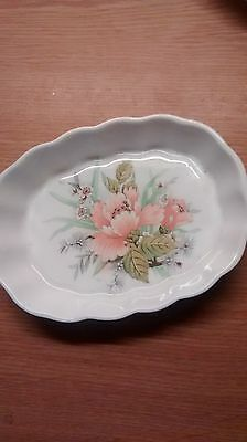 small Fenton China Floral oval