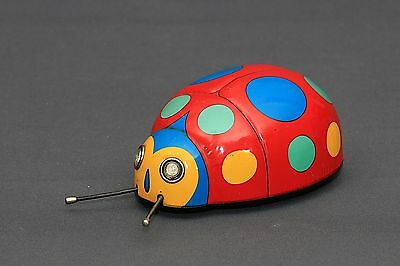 Super RARE Modern Toys Japan 1960's Battery Operated Ladybug Beetle Tin Toy WORK