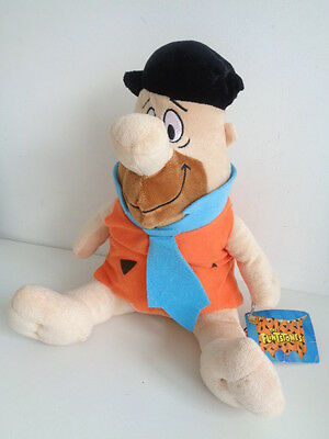 "The Flintstone - Fred Flintstone 11"" Soft Toy - Hanna Barbera - New With Tag"
