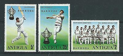 Barbuda SG246-248 1975 World Cup Cricket Winners Unhinged Mint