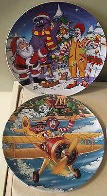 Variety of McDonalds Collector Plates, Set of 9