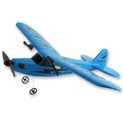 New RC Radio Control Airplane Glider 150M Control Distance Plane TOY S131 Blue