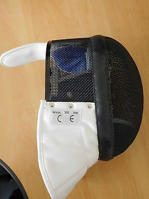 New, Duellist Medium or Large size epee fencing mask, Sheffield Fencing Supplies
