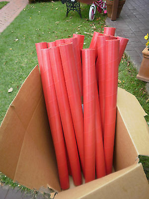 16 postal tubes 870mmx60mm with end caps