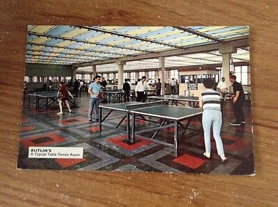 Butlins Typical Table Tennis Room Postcard 70s