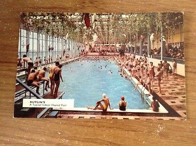 Butlins Postcard A Typical Indoor Heated Pool 1970s