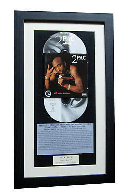 2 PAC All Eyez On Me CLASSIC CD Album GALLERY QUALITY FRAMED+EXPRESS GLOBAL SHIP
