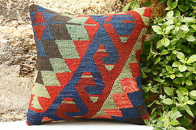 Turkish Killim Carpet Pillow Cover,Couch Pillow,Cushion Cover.Throw pillow.